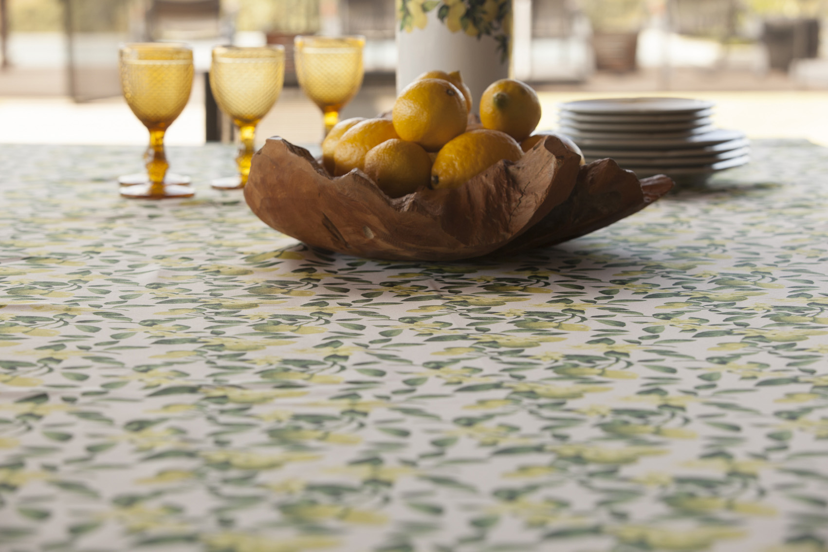 Decoração para cozinhas com toalhas de mesa