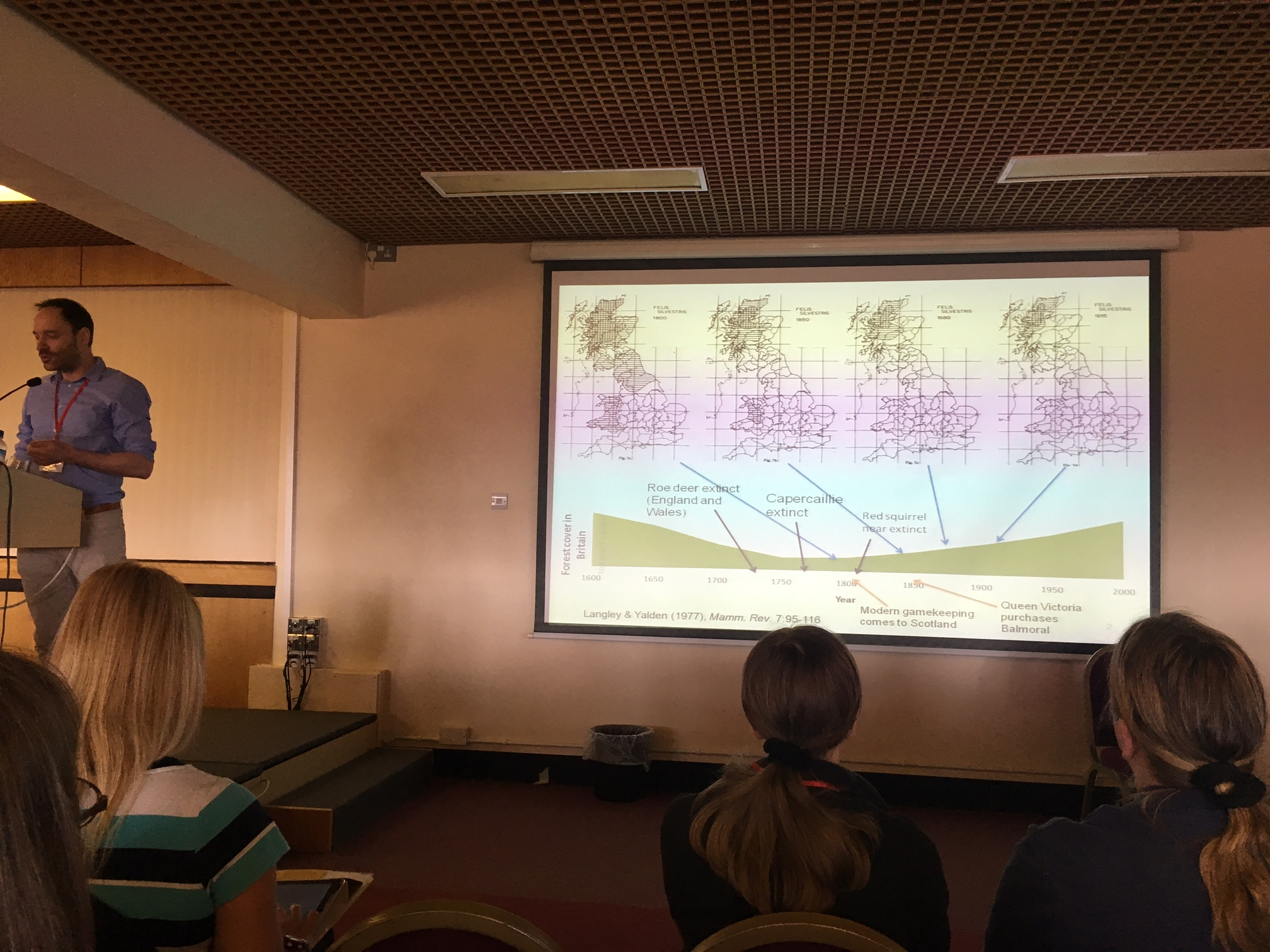 Roo Campbell from the Scottish Wildcat Action project talks about the range contractions of Wildcats, here illustrating that forest cover does not necessarily dictate distribution or abundance