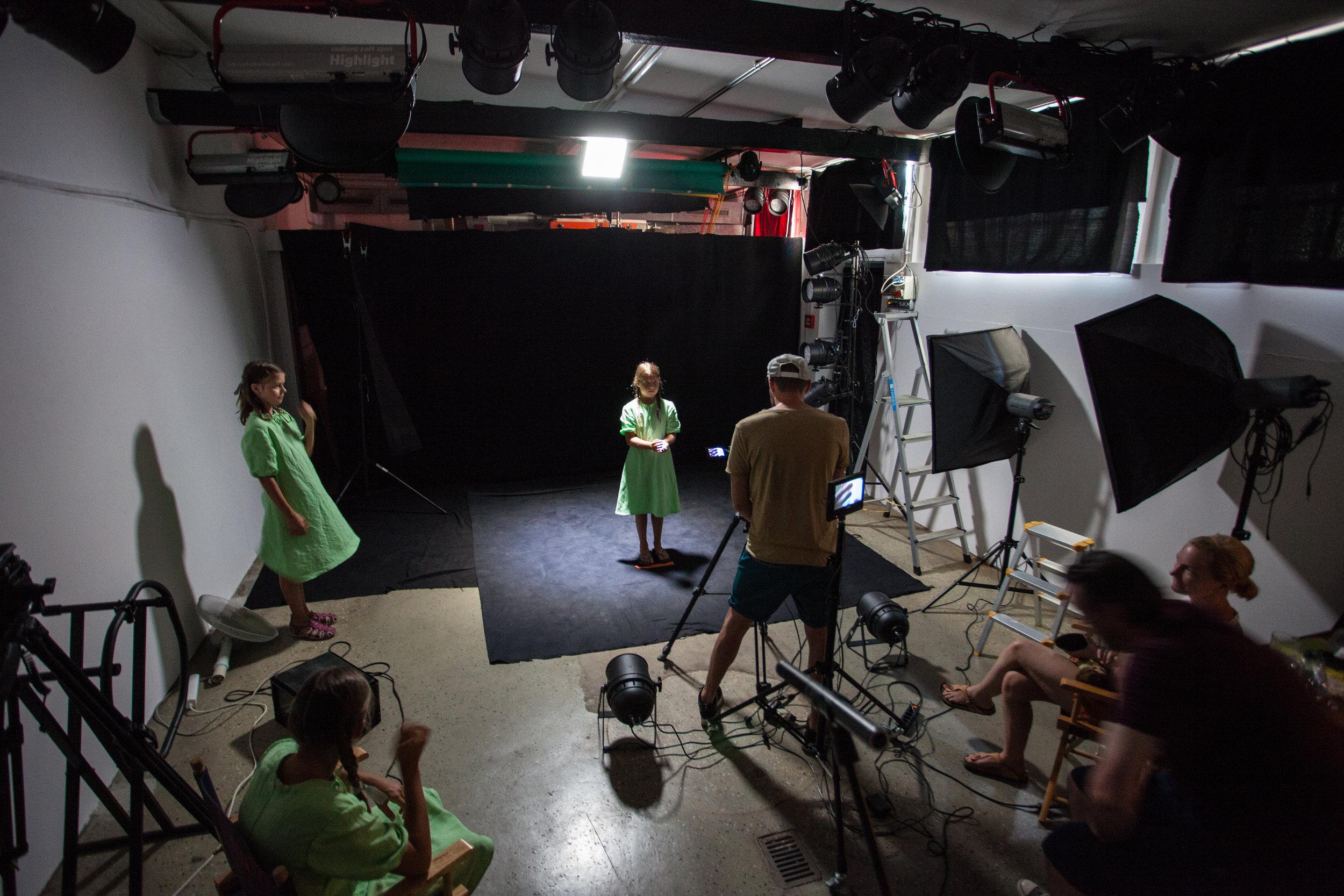Dreharbeiten in unserem Studio 1