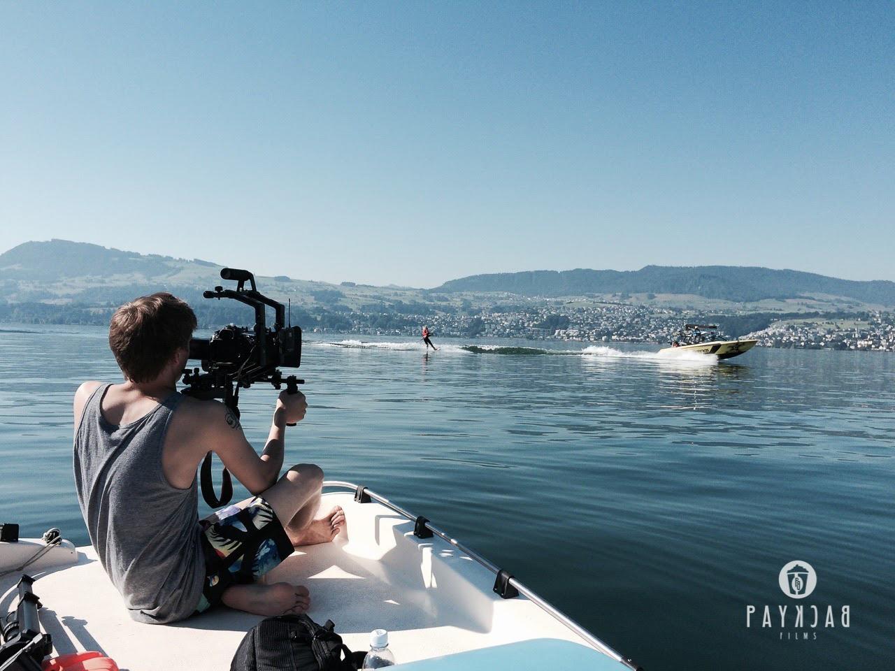 Dreharbeiten auf dem Zürichsee