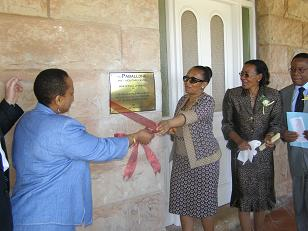 Hon Min Ramatlapeng opening the Centre in November 2007
