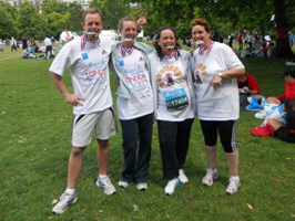A group of charity runners who have helped aid in the cause