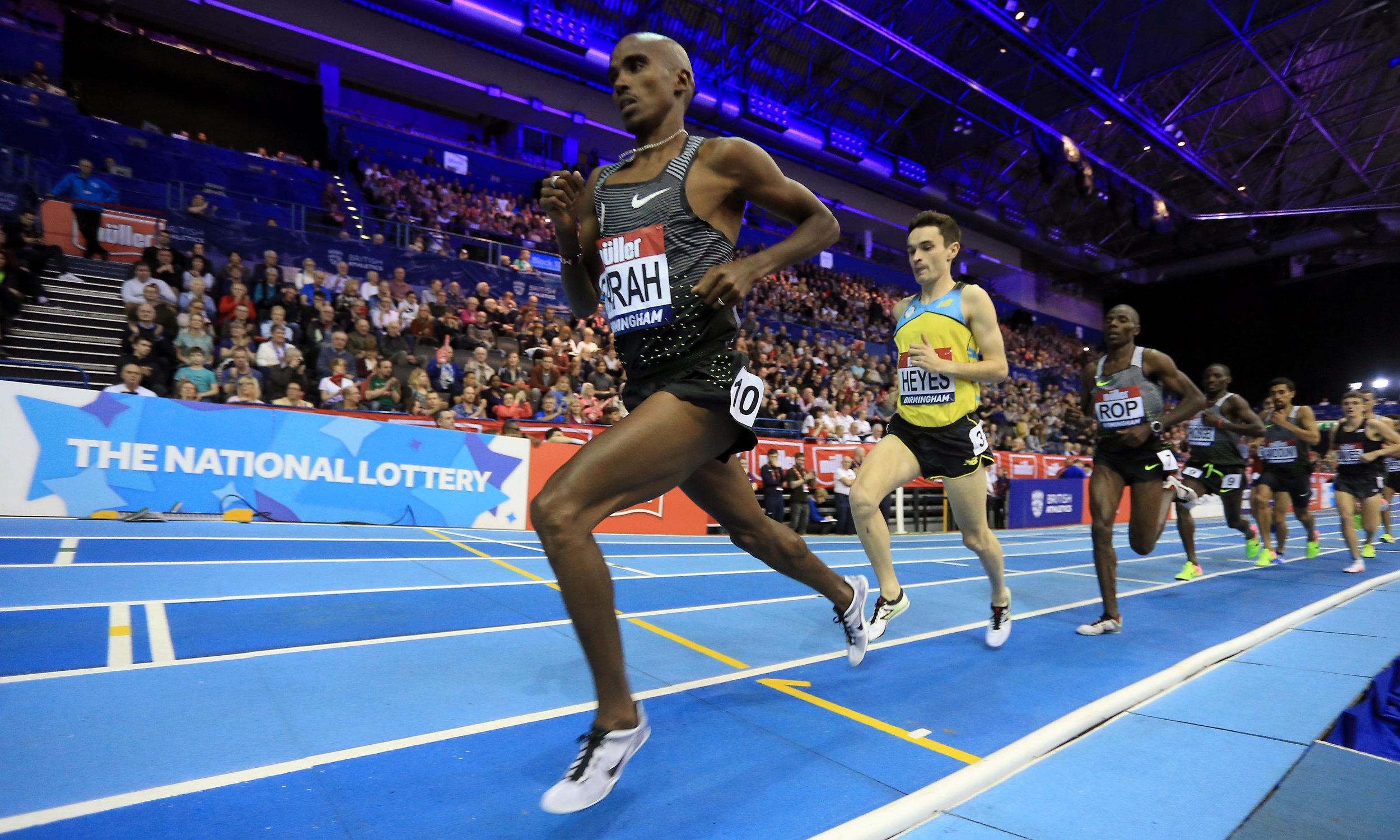 Olympic 5000 & 10000 metres Champion Sir Mo Farah (Credit: British Athletics/Getty Images).