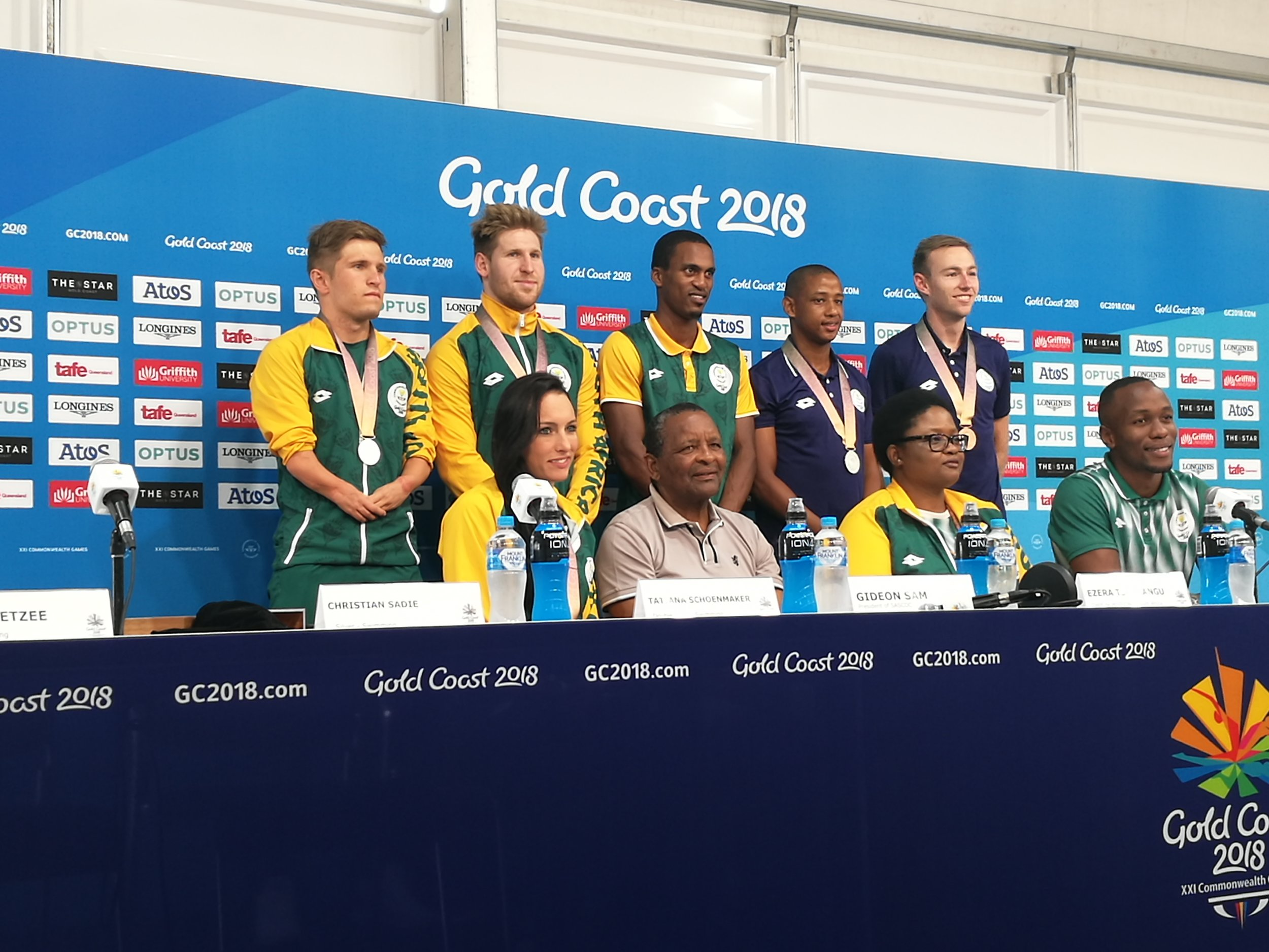 Team South Africa 'medal winners' Press Conference