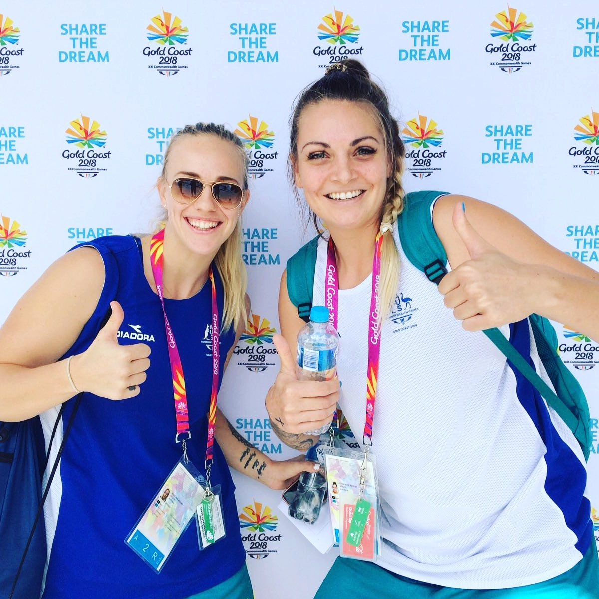 Nicole Seekamp (L) and Cayla George (R)- Australia Basketball