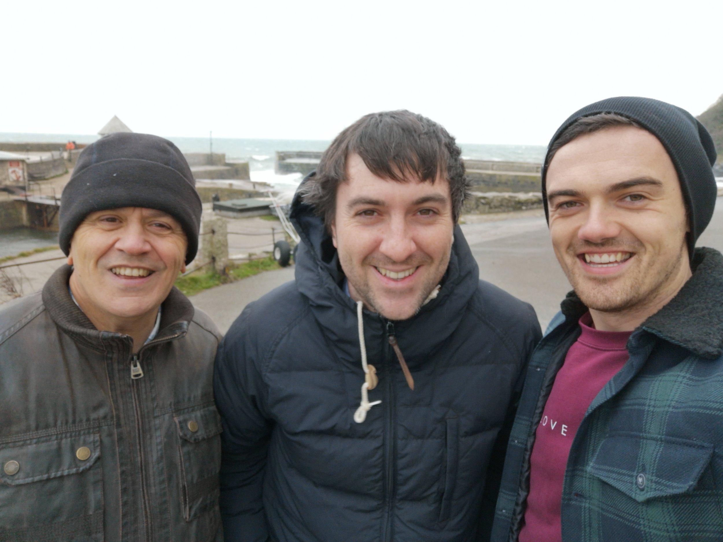 Adrian Barnard - Content Manager (L),  Marcus Jones - Head of News (C),  Liam Flint - Digital Media Manager (R)