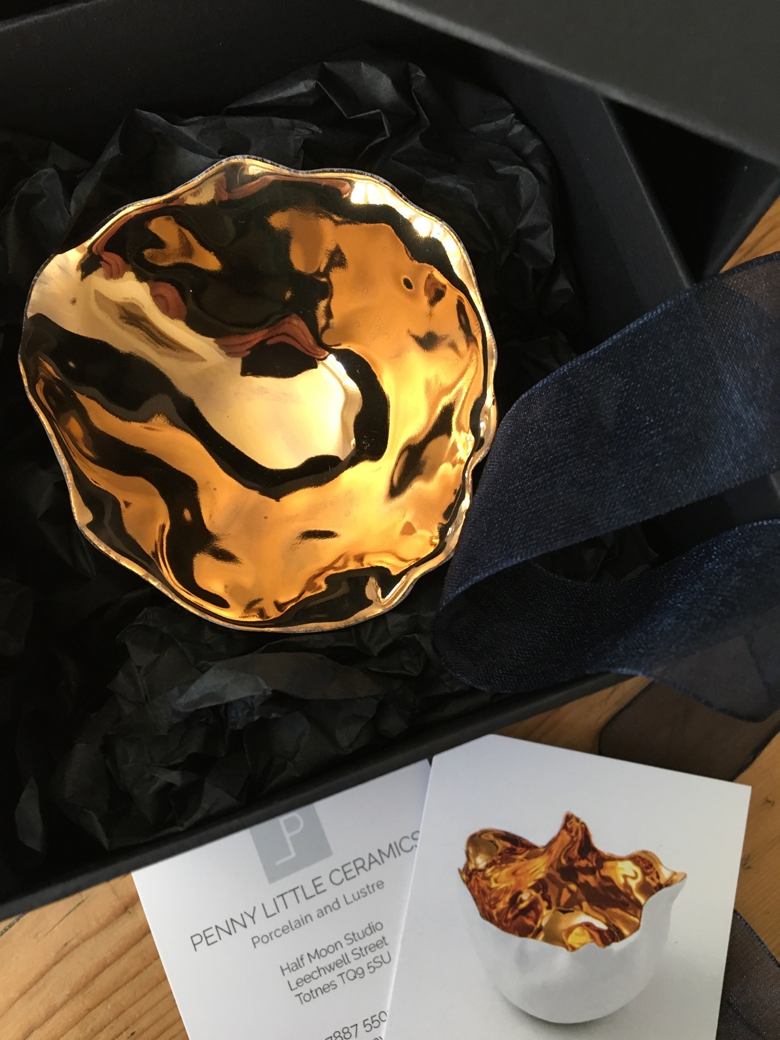 Packaged gold Lustre Bowl