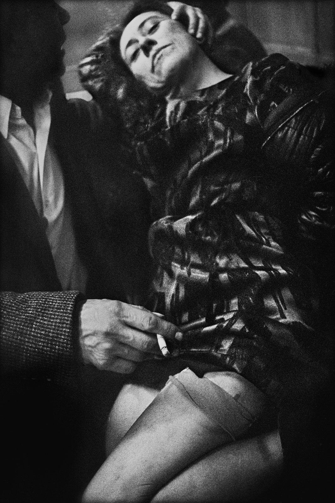 Uschi with man, from 'Café Lehmitz' series, 1970