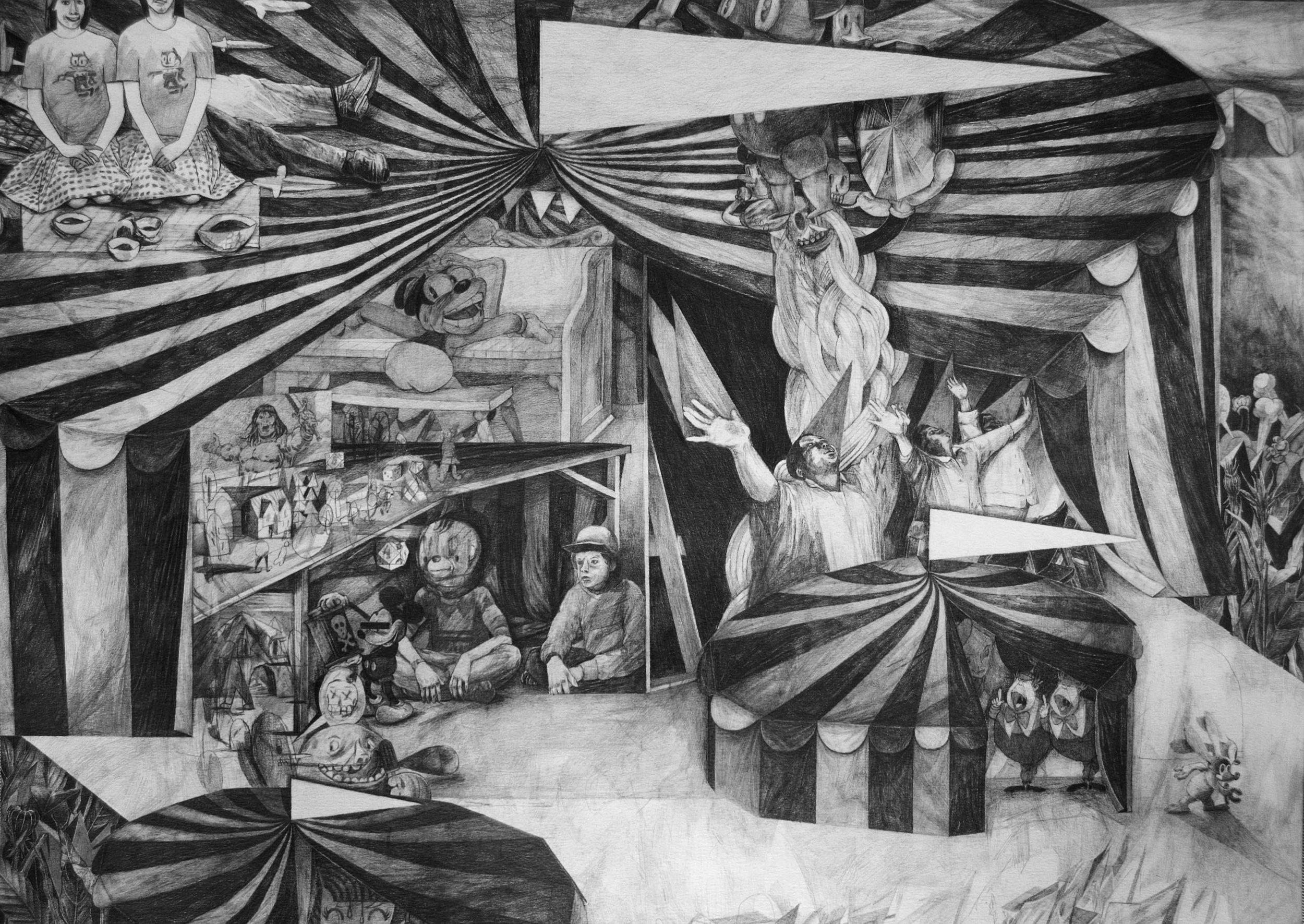 8 Schools Of Magic, 42 x 59cm, pencil on paper, 2016