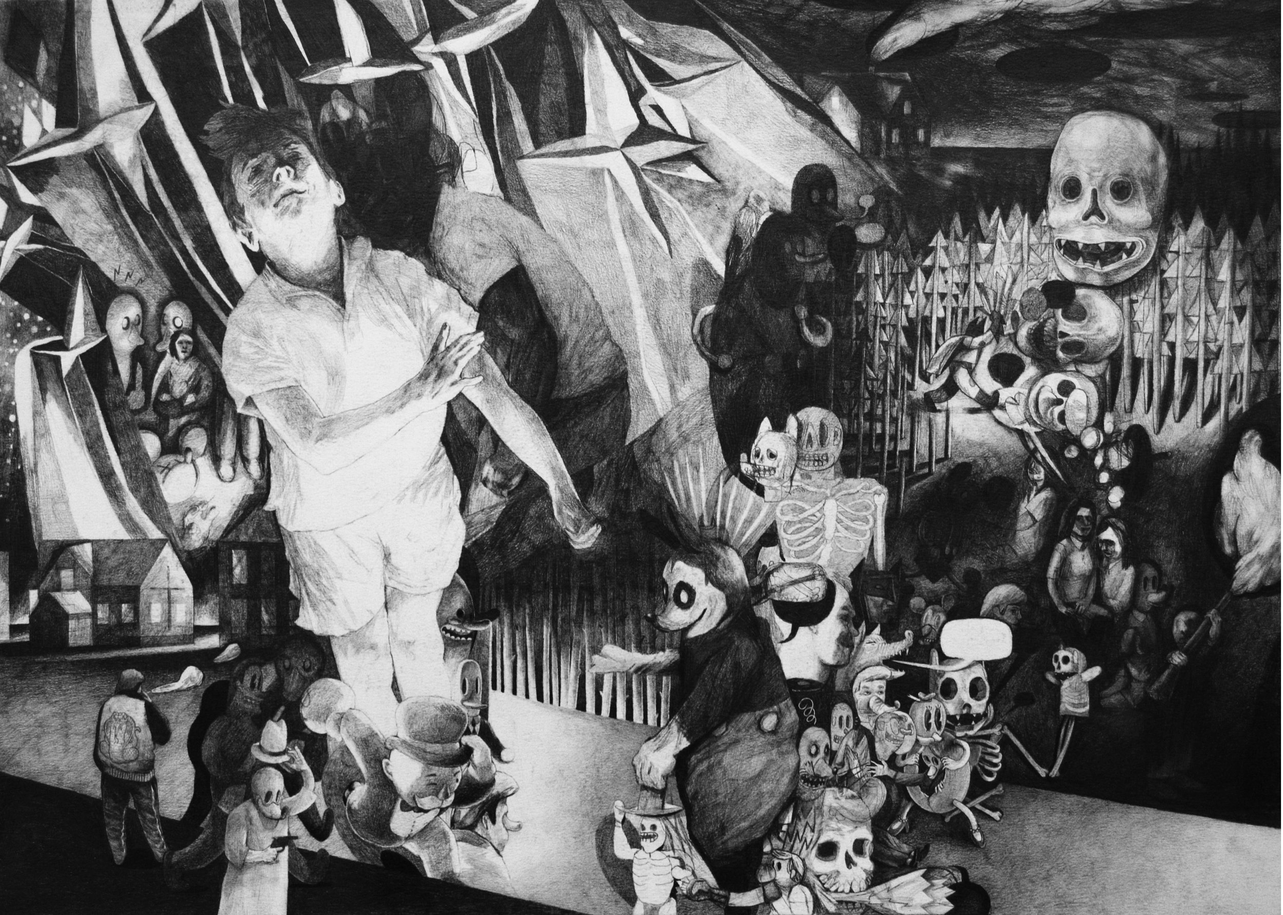 I've been looking at the sky so long it feels like home to me , 42 x 59cm, pencil on paper, 2016