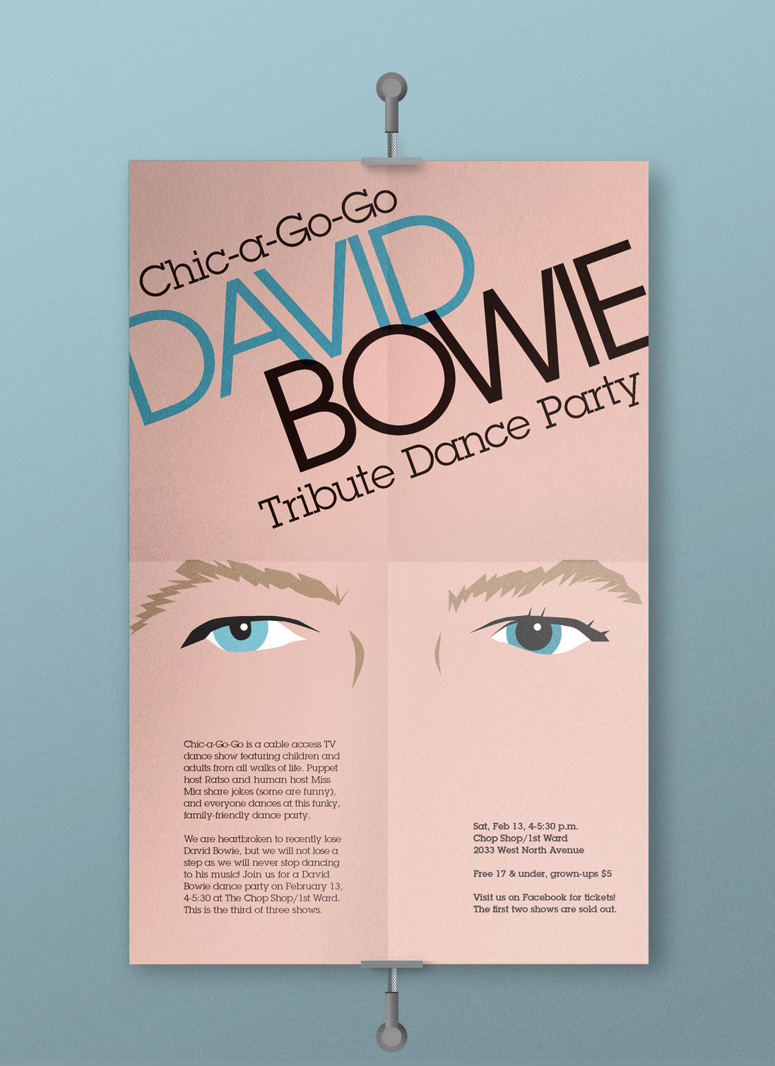 Bowie Tribute Event Poster