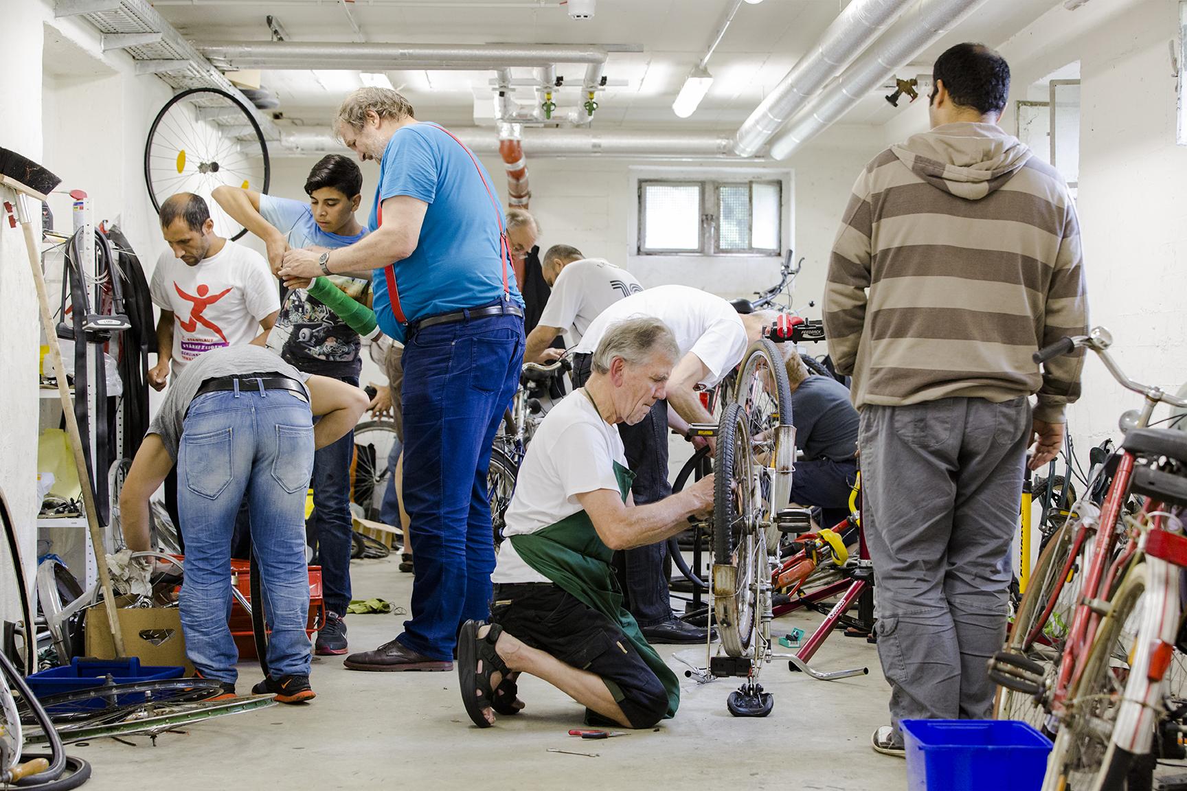 Über hundert Räder wurden mittlerweile gespendet, Kinderräder nicht eingerechnet