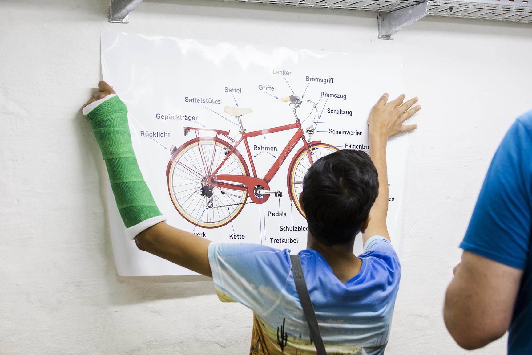 Wer die Fahrradteile benennen kann, ist bei der Reparatur ebenfalls klar im Vorteil