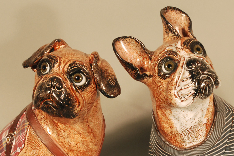 'Malcoln' Pug and 'Jack' FrenchBulldog