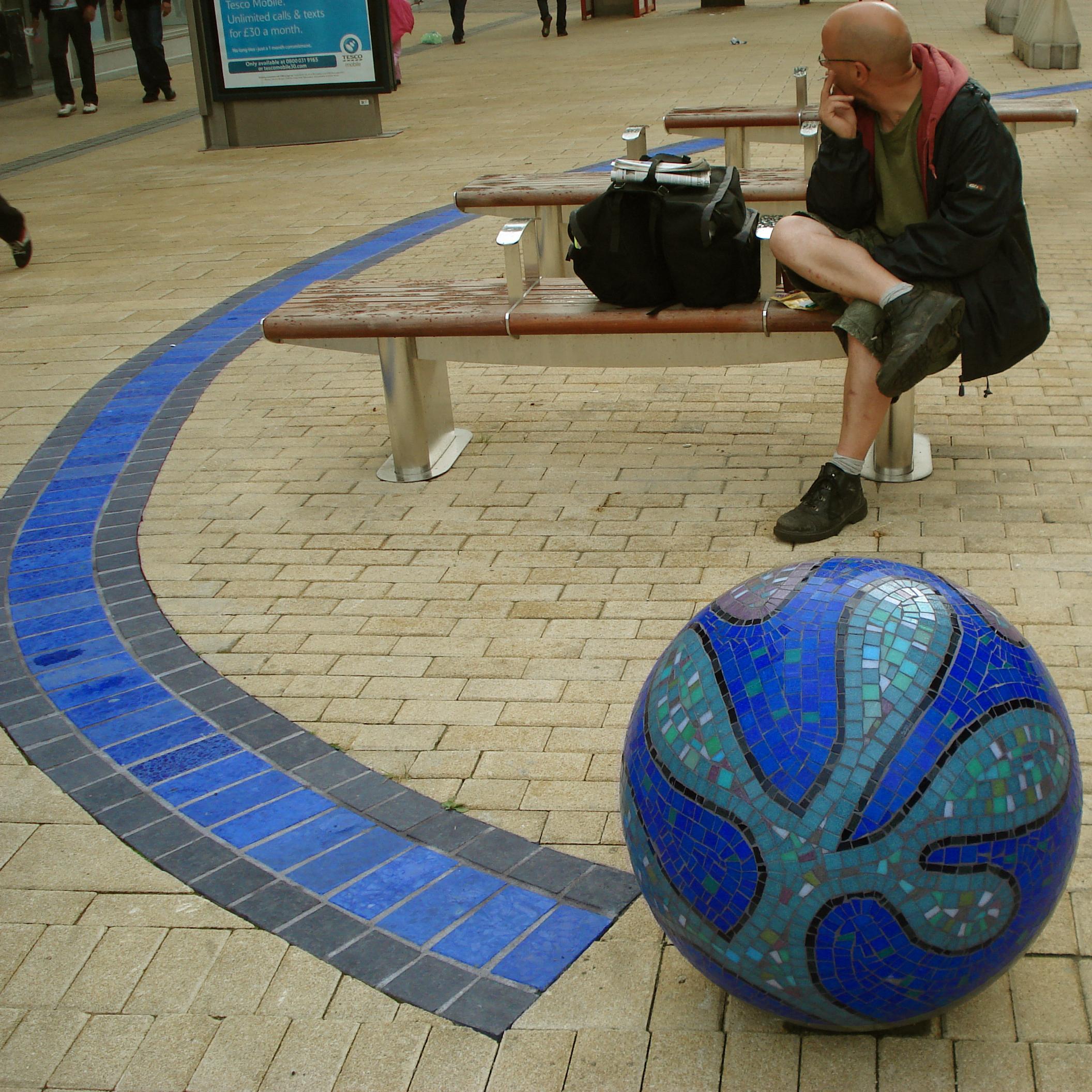 Broadmeads Bristol Mosaic balls spheres