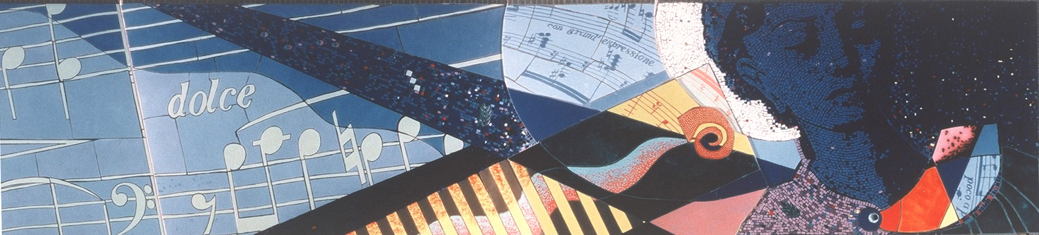 Ceramic Mosaic for the stairwell of the ocean liner
