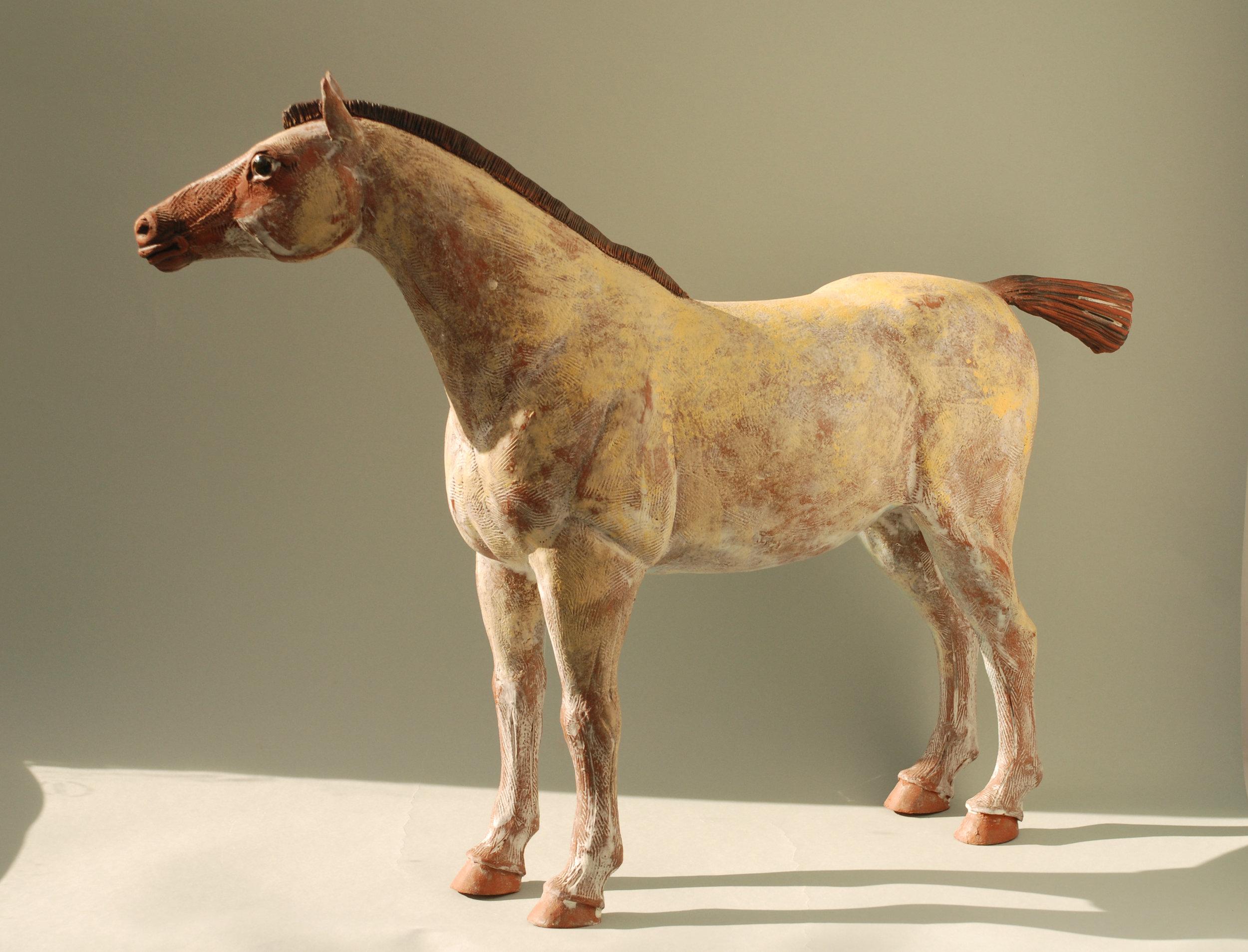 Ceramic Horse, High-Fired Terracotta