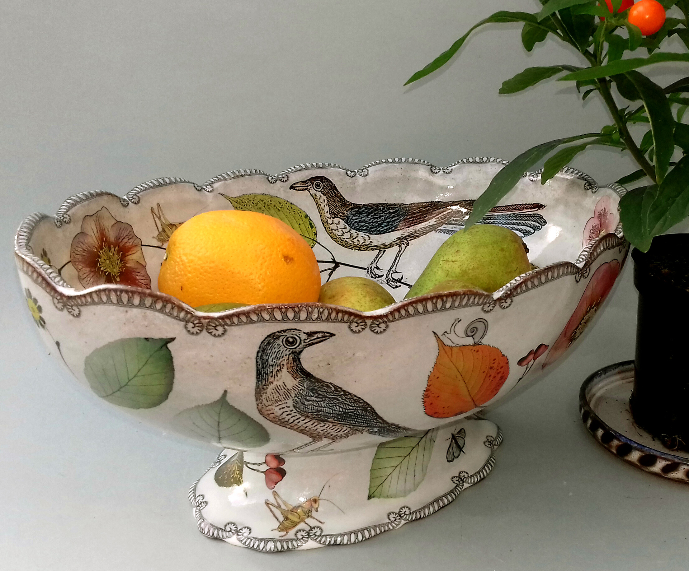 Georgian Fruit Bowl, Tin-Glazed Eartheware