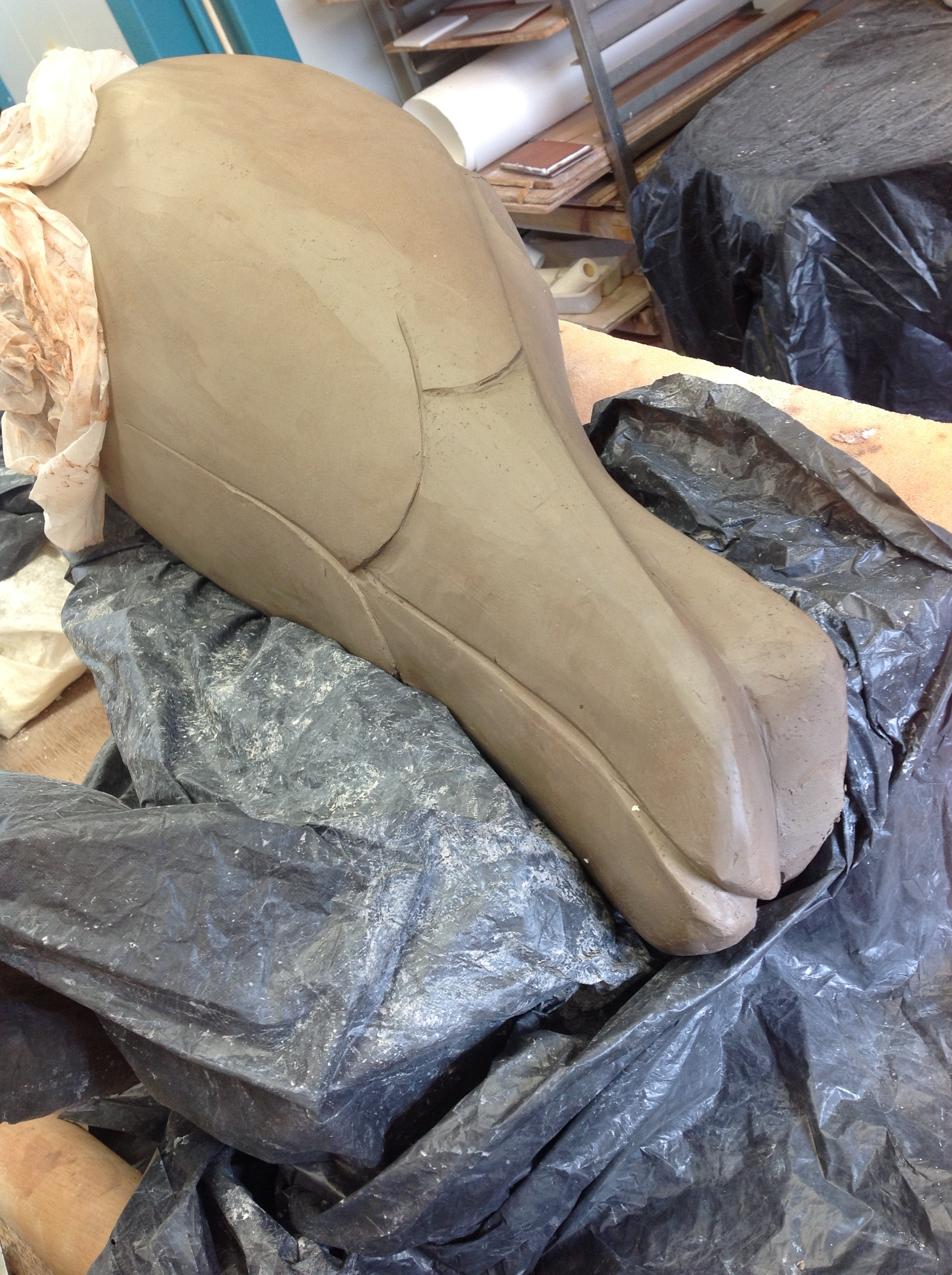 finishing the press-moulded body
