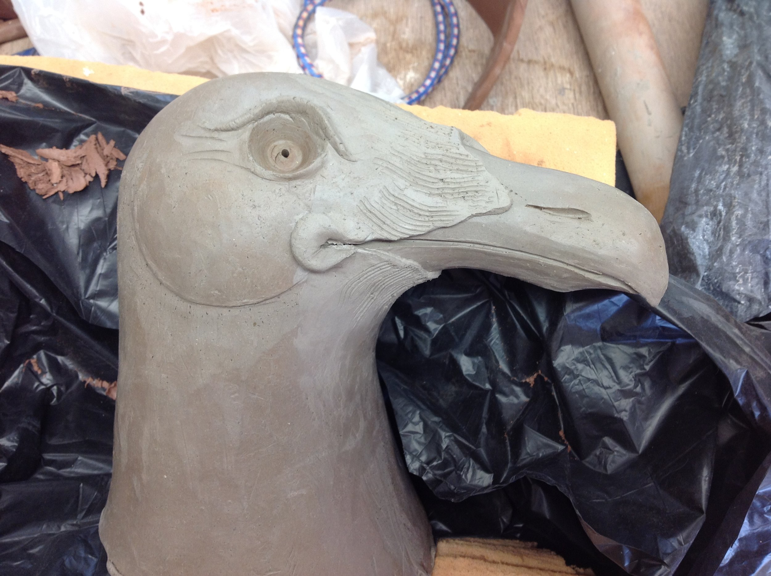 the finished head with detail
