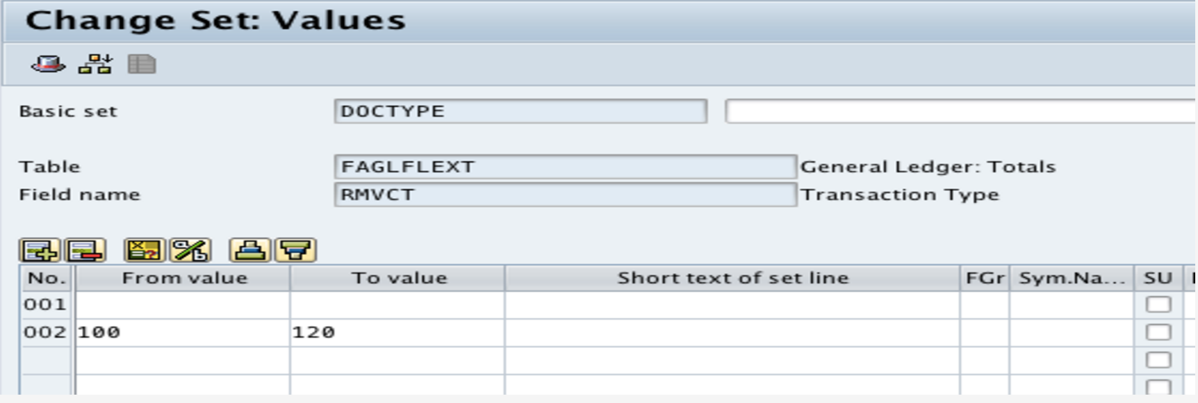 How to Include a Value = Blank in a set in GS01