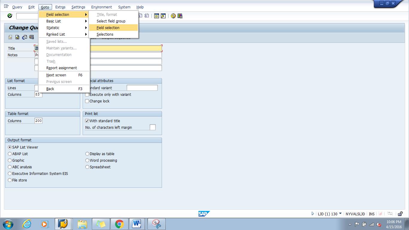 SAP Queries Tips