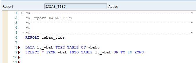 SAP ABAP Inline Declaration