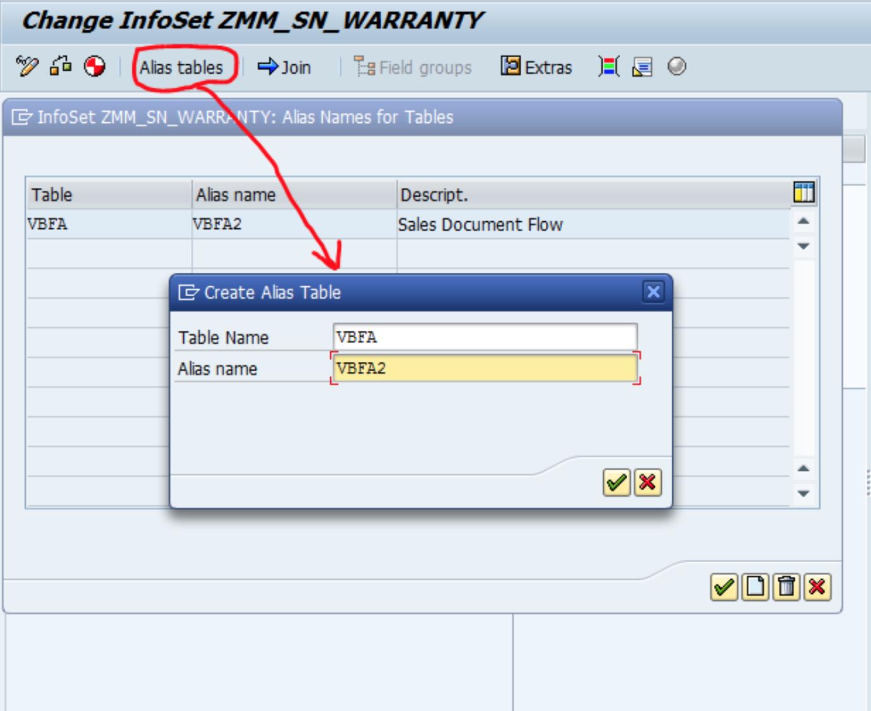 Using Alias Tables in SAP Queries