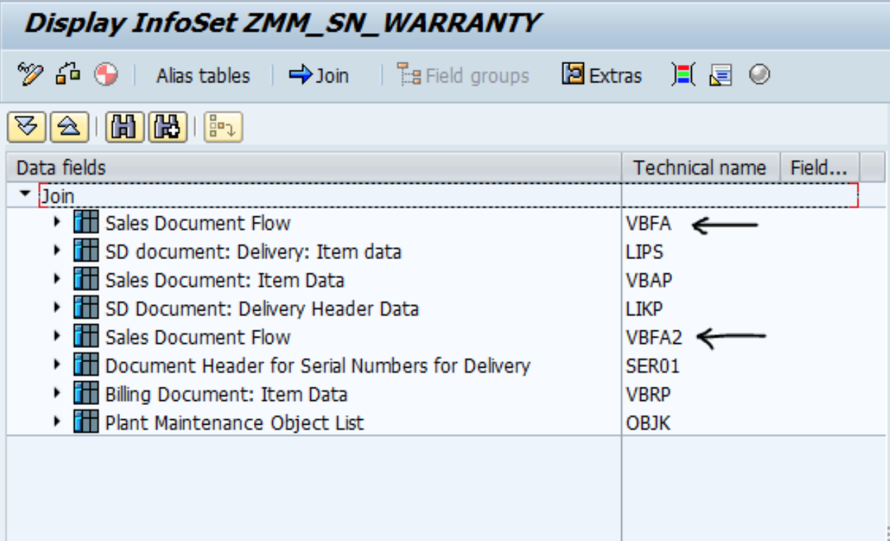 Using Alias Tables in SAP Queries