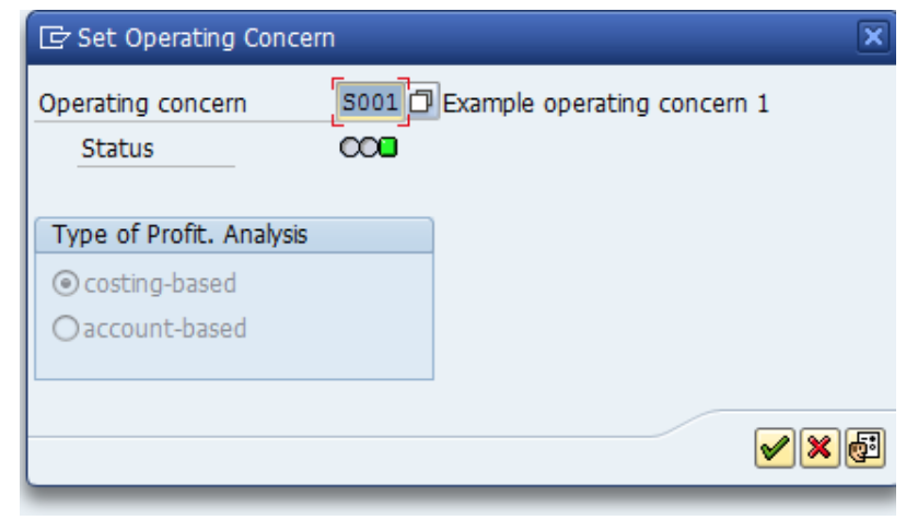 SAP COPA User Transactions