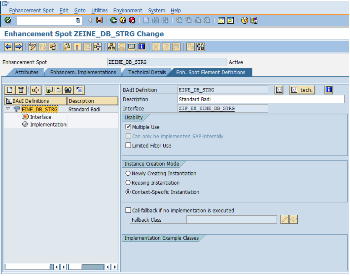 SAP Classic BADI To New