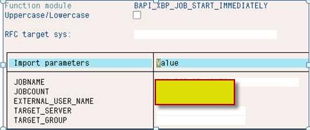 SAP Background Processing