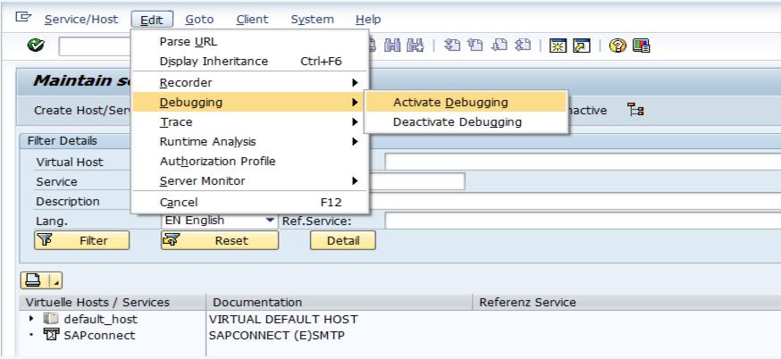 External Debugging from EP (Enterprise Portal) and SRM