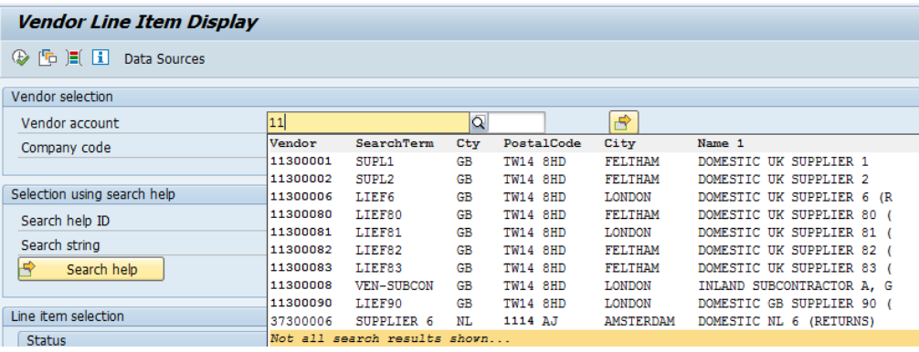 Figure 8 Enhanced Search Using Vendor Number