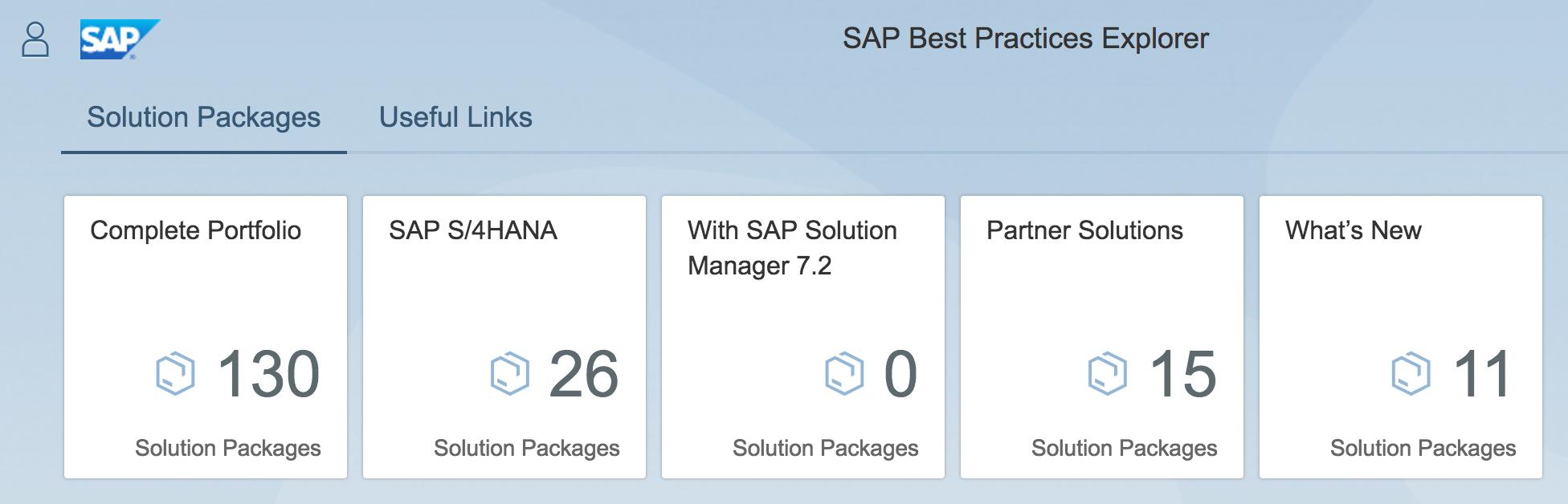 SAP Best Practices Explorer