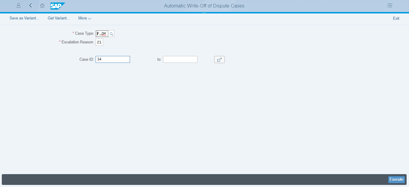 Figure 6:  Fiori application of GUI type