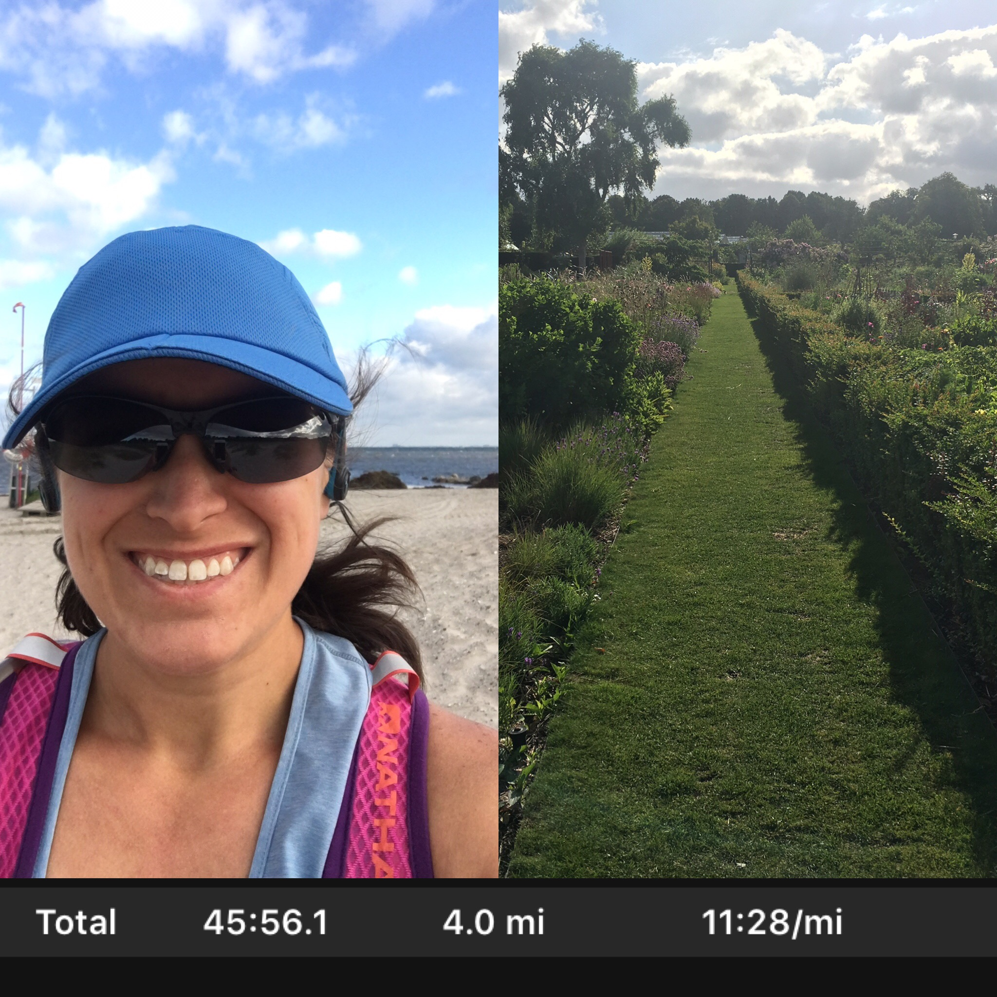 Beach AND garden run!