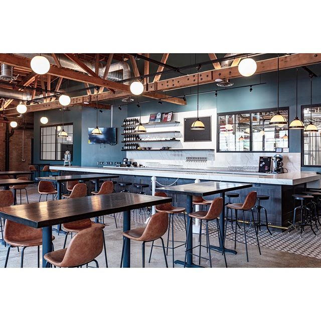We are so thrilled that this fantastic brewery is now OPEN in Chicago!!! We loved consulting on this amazing space. Lighting, chair and paint selections are some of our favorite items to help with! Now we just need to get some @midwestcoastbrewing beer in Cville... #interiordesign #lightingdecor #beerdesign #commercialdesign #lovesomecolor #cvilledesign #colorconsulting