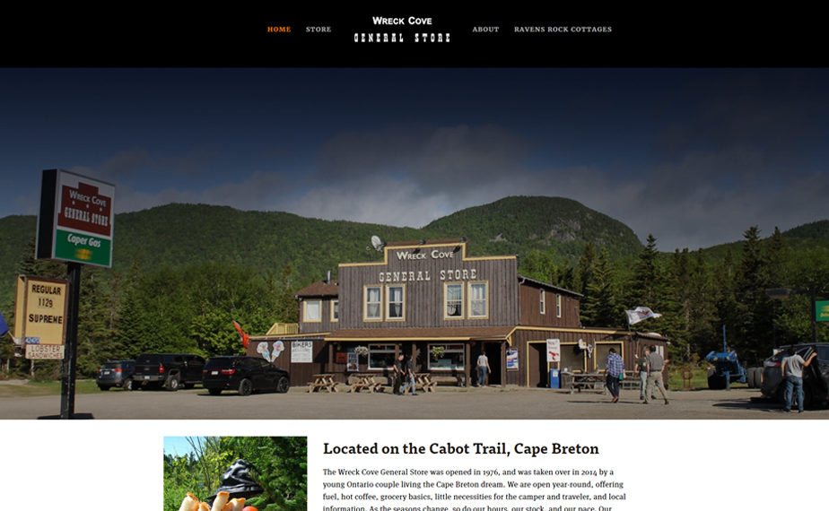 Website for the Wreck Cove General Store