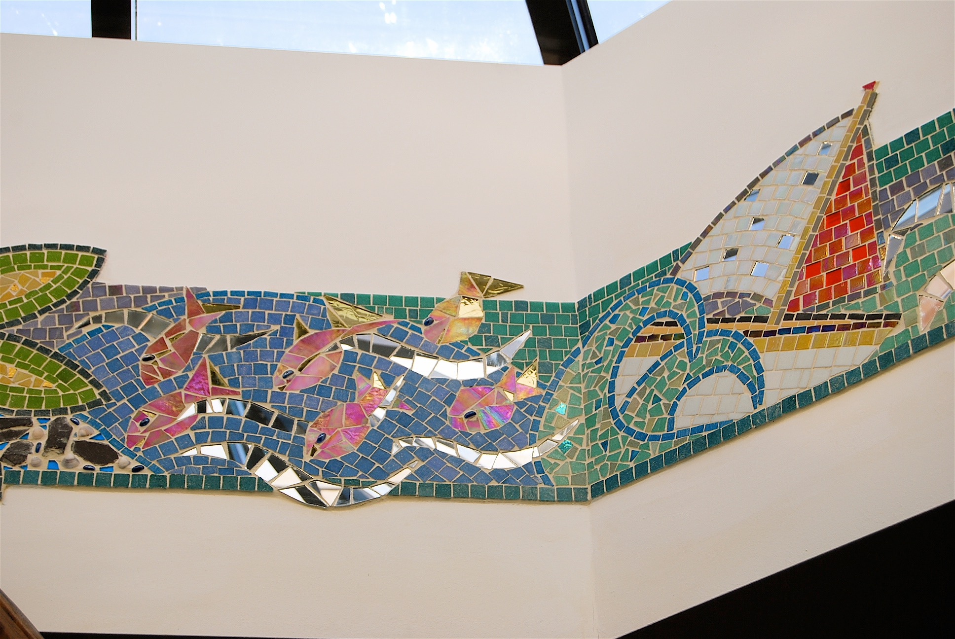 Mosaic murral commissison for Special Needs School