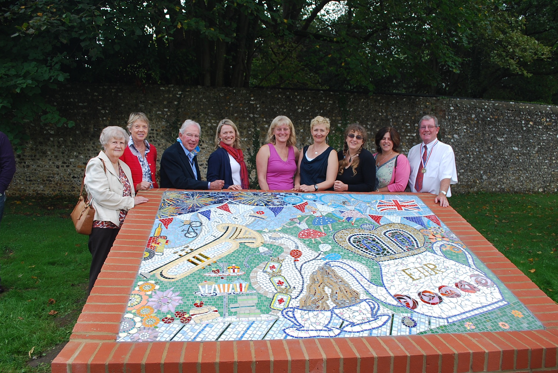 Commissioned prefabricated mosaics for parks