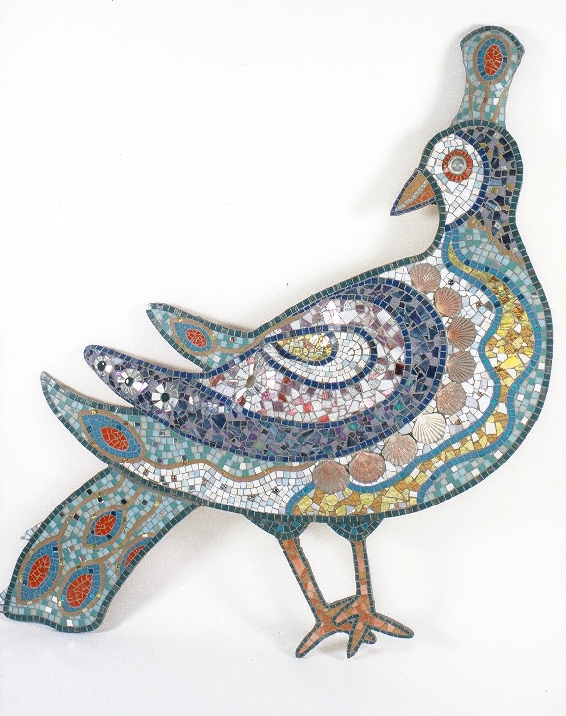 Mosaic Bird feature for walls