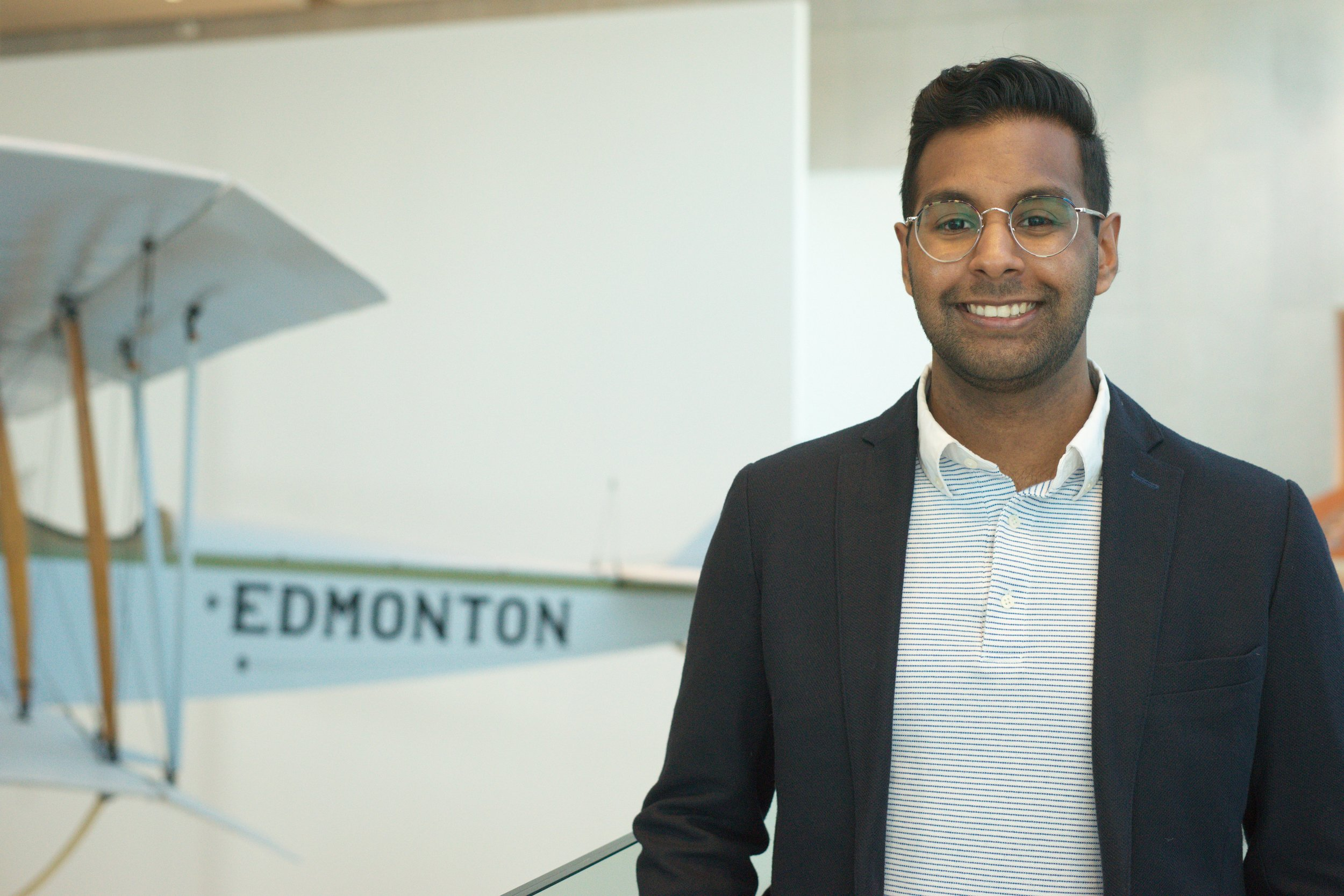 Varshu Karumuri  Co-Chair  Hey, I'm Varshu and I'm extremely excited and grateful to be one of AIBC 2019's Co-Chairs. I'm a Management Information Systems major with a keen interest in technology, especially the people side of it. In my spare time, you can find me trying new restaurants and ice cream shops!