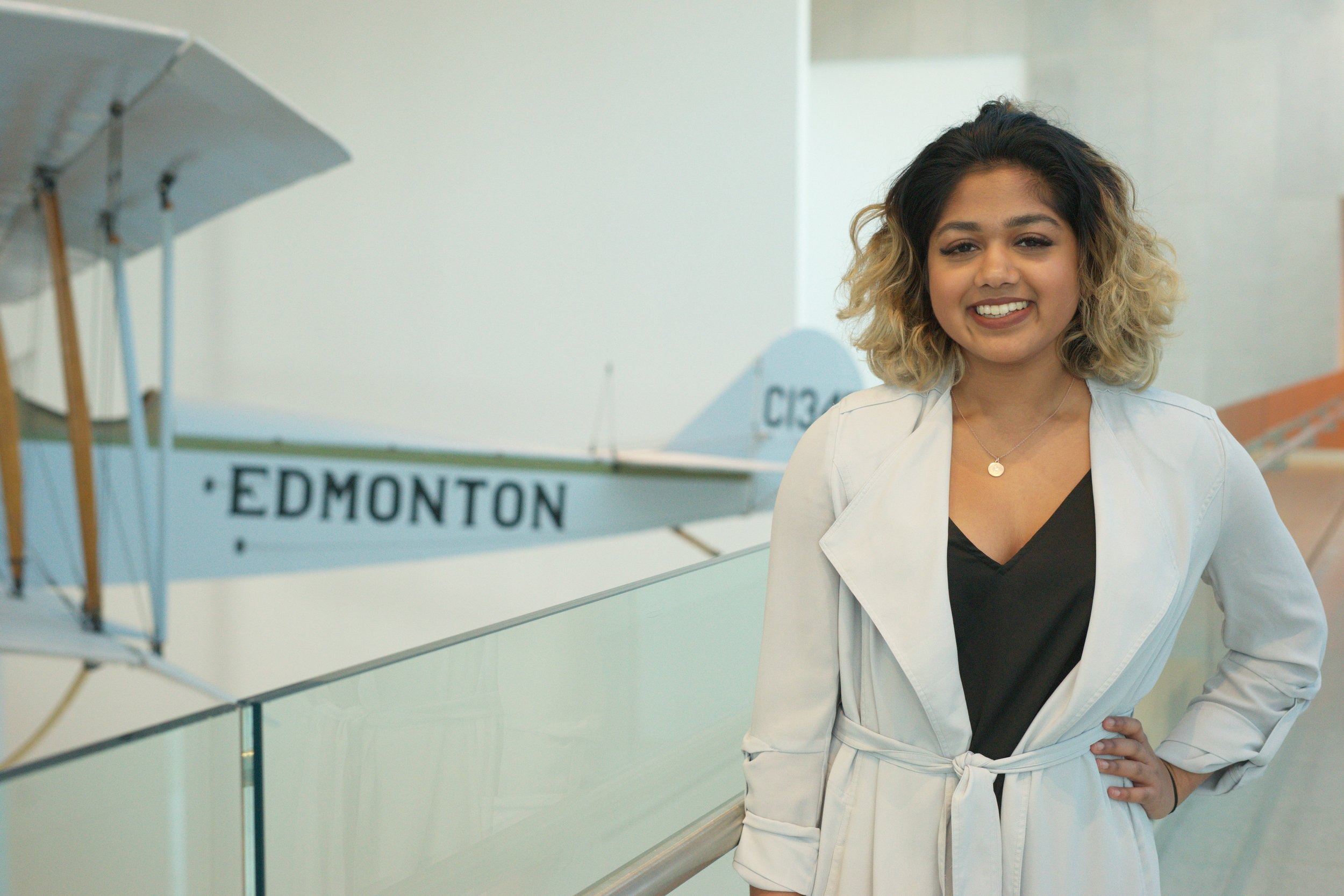 Rea Naidoo  Vice-President Academic  Hi! My name is Rea and I'm your VP Academic for AIBC 2019. Having been on multiple sides of a case competition from participating to judging to organizing, I've seen the good, the bad, and the ugly of cases but strive to bring the good, the better, and the best to this competition. I'm currently a Marketing major at the Alberta School of Business and an active member of my community, both in school and out of it. In my free time, you can find me scrolling through memes or hitting up a local restaurant!