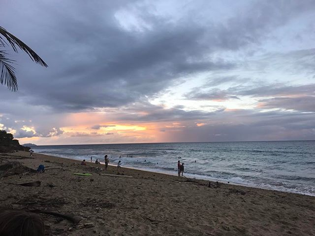 Right down the road is Sandy Beach… caught the beautiful sunset #beach #rincon #sunset #beauty #pretty #puertorico #sandy #water #surf #happy