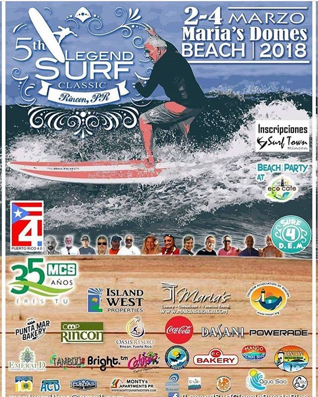 Join us for the 5th Annual Legend Surf Classic! #rincon #pr #puertorico #surfing #beach