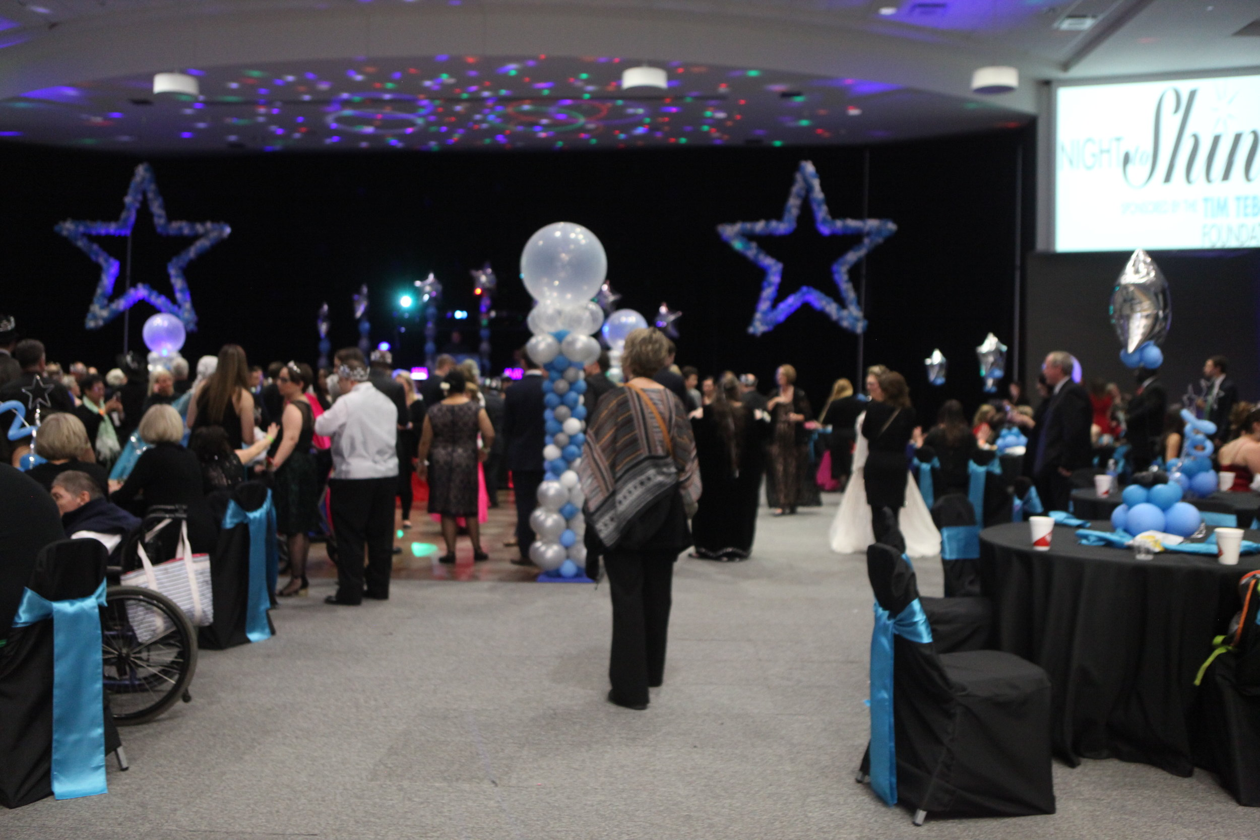 Event Sponsor : $5,000 - When you give $5,000 your business will be recognized on a corporate sponsor banner in the grand hall of Night to Shine, the slideshow at Night to Shine, publicity in the take home bag, you will receive a post on Facebook and a spot on our professionally made Night to Shine Video that will go to the Tim Tebow Foundation. You will also be introduced to do a welcome message from the grand stage of Night to Shine.Click to Donate Now