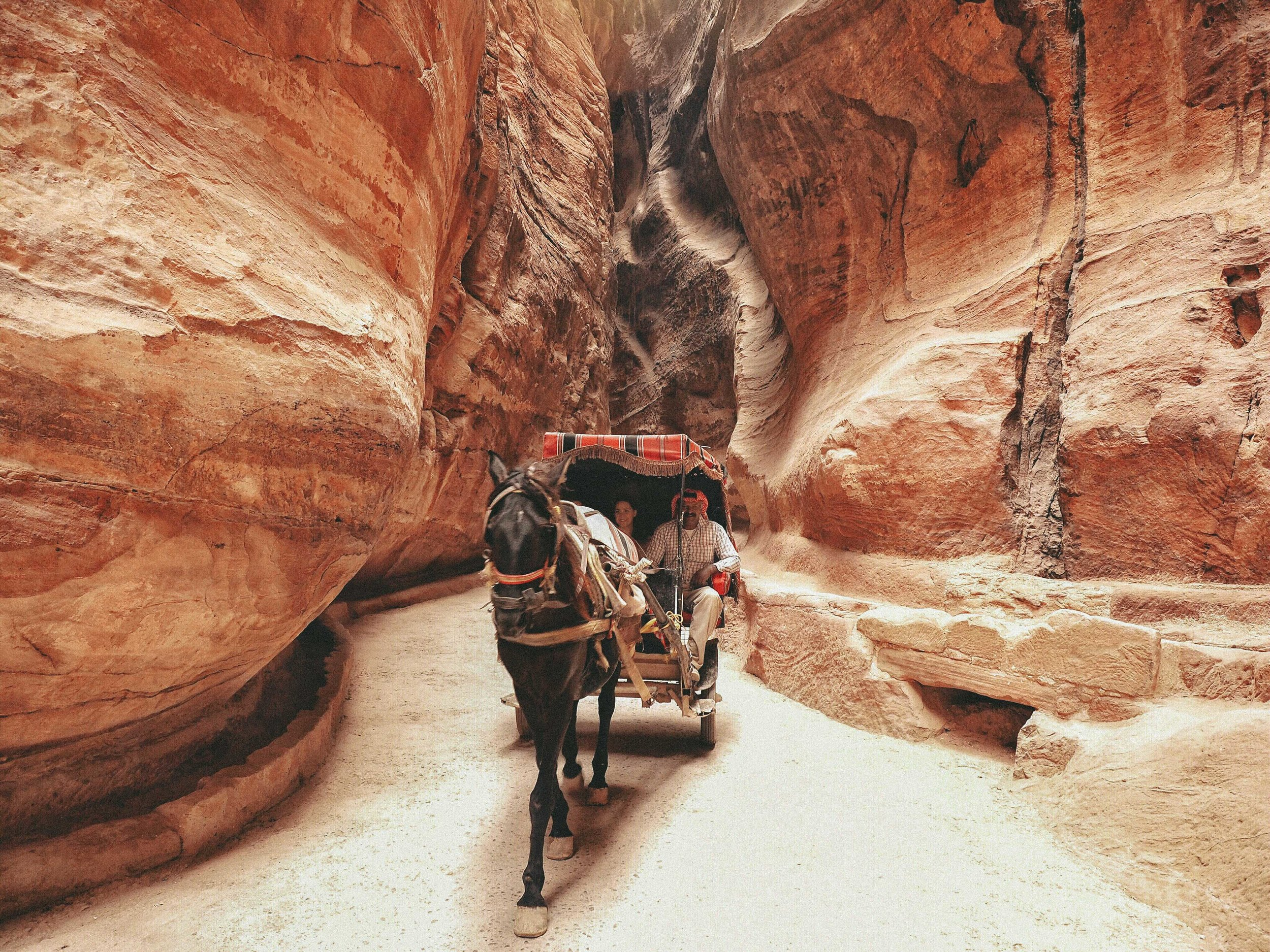 "You can take a ride along the ""siq"" and get to the main site in style. Do it just to feel like Indiana Jones!"