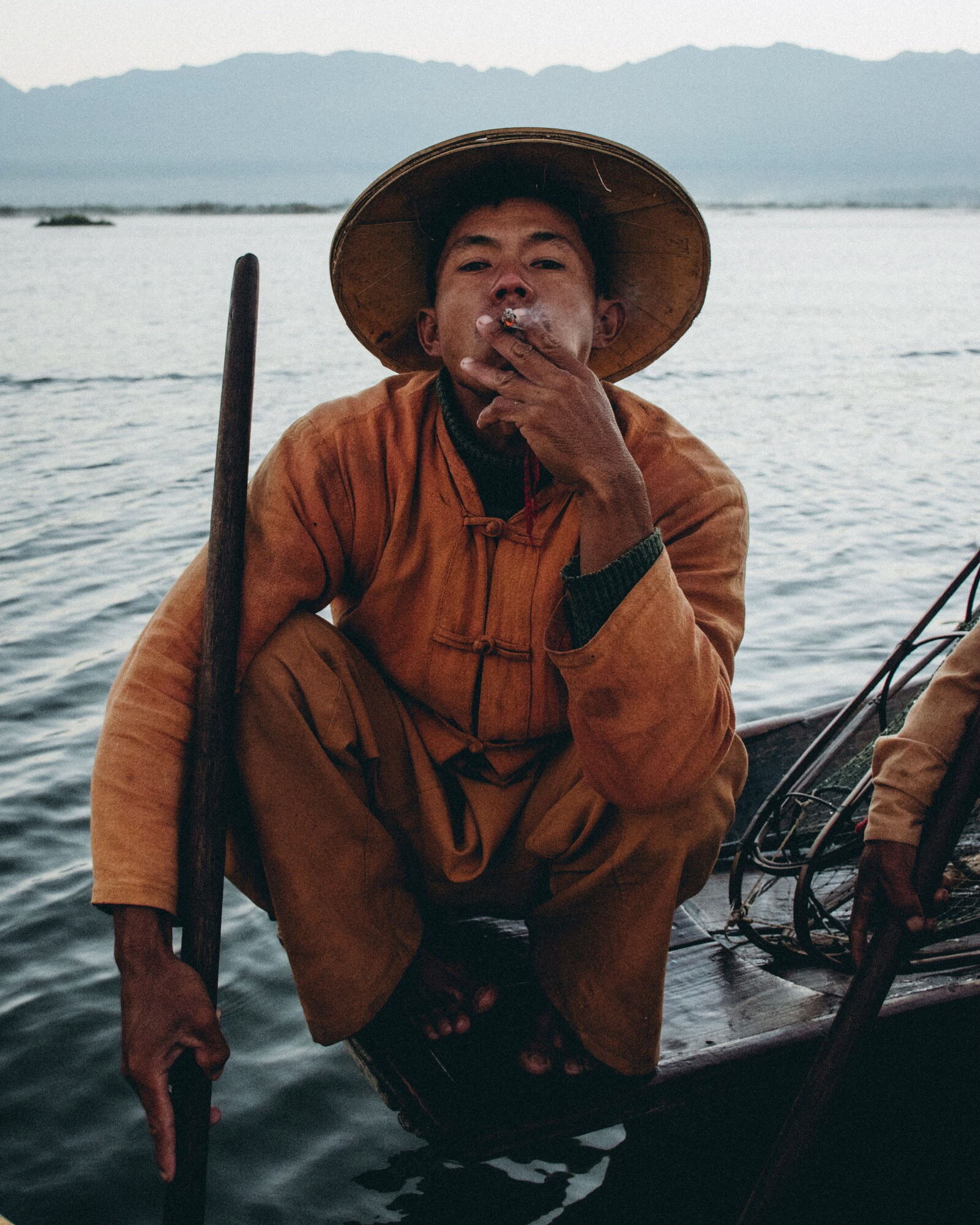 Inle Lake Fisherman Myanmar Portrait