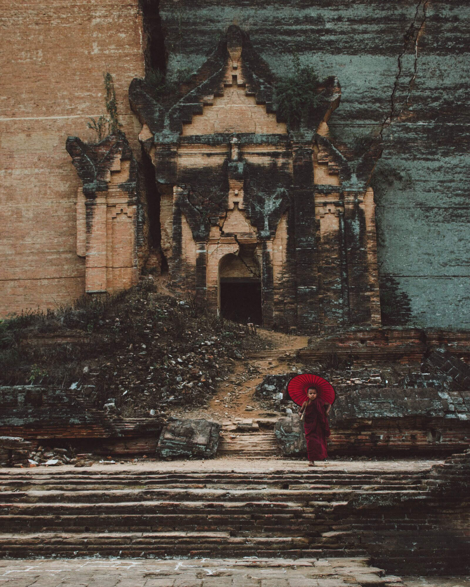 Mingun Myanmar Temple Monk